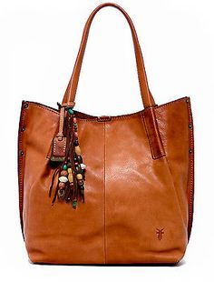 Frye Hillary Natural Brown Leather Tote NWT $598