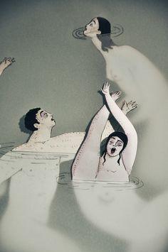 En el agua (Dones d'aigua II) por Sonia Alins