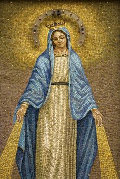 Wallmonkeys Mosaic of the Virgin Mary Peel and Stick Wall Decals WM70888 (36 in H x 24 in W) ** Remarkable product available now. (This is an amazon affiliate link. I may earn commission from it)