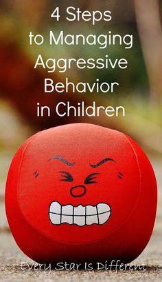 4 steps to managing aggressive behavior in children. Gentle Parenting, Kids And Parenting, Parenting Hacks, Practical Parenting, Autism Parenting, Toddler Behavior Problems, Kids Behavior, Behavior Charts, Agressive Children
