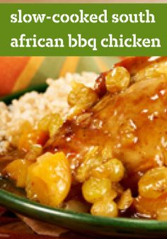 Slow-Cooked South African BBQ Chicken Read Recipe by kraftrecipes Slow Cooker Recipes, Crockpot Recipes, Chicken Recipes, Bbq Chicken, Chicken Curry, Oven Recipes, South African Dishes, South African Recipes, Ethnic Recipes