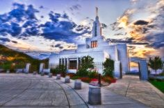 Glory of God. LDS Draper Temple