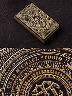 Showcase of Creative Print Designs with Hot Foil Stamping Business Cards Layout, Luxury Business Cards, Business Card Design, Typography Design, Logo Design, Lettering, Cool Symbols, Branding, Print Finishes