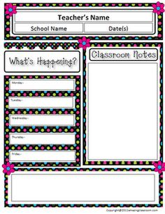 Free Classroom Newsletter Template! I used it and it's super cute..can change it around