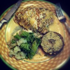 Baked Fresh Herb Parmesan-Crusted Chicken 3 skinless boneless chicken breasts Extra Virgin Olive Oil (EVOO) 1/2 cup grated Parmesan cheese 2 cloves garlic cloves (minced) 1 tsp fresh thyme (chopped...