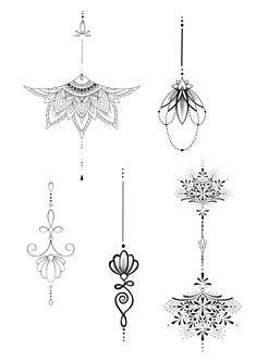 Sternum Tattoo Lotus, Thigh Garter Tattoo, Sternum Tattoo Design, Women Sternum Tattoo, Lace Flower Tattoos, Dainty Tattoos, Lace Tattoo, Small Tattoos, Little Tattoos