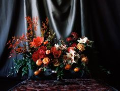 Honey of a Thousand Flowers  Rich colored winter arrangement by Sarah Winward, photo by Britt Chudleigh