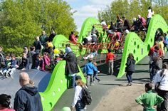 playscapes: The 'Green Wave' Slide, Malmö Sweden, Anders Dahlbäck, 2012