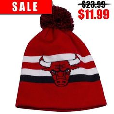 fa1f6bdbe63 Shop the Chicago Bulls Red Mitchell and Ness Cuffless Winter Beanie to show  your love for