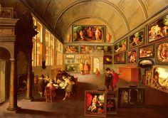 Frans Francken II, Interior de una galería de pintura