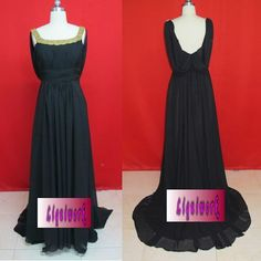 Black Chiffon Formal Evening Mother of the Bride Evening Gowns Dresses SKU-1040106
