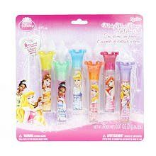 Disney Princess Make Me a Princess Lip Gloss Set 6 Flavored Lip Glosses by Disney. $16.24. six great flavors. cool disney princess theme. great for kids. Princess perfect lips are easy with this Disney Princess Lip Gloss Wand 6-Pack. Mix and match the 6 yummy flavors featuring 6 Disney Princesses!Disney Princess Lip Gloss Wand Set Flavors Include:Bubble gum - Princess BellePeach - Princess TianaBlueberry - Princess Cinderella Mixed berries - Princess Aurora Str...