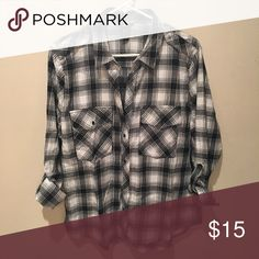 Plaid shirt This item is flaw free NO TRADES I ship next day  Thanks for looking! Check out my other listings (:  *i share listings back!* FOREVER 21 not Brandy Brandy Melville Tops Button Down Shirts