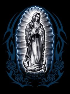 SEEK THE SYMBOL: Virgencita. Step Positive- Savior, Purity,Pilgrimage, Religion, and Compliance Step Virgencita represents the Virgin Mary. She is someone that is prayed to in hard times or when you need to repent your sins. Chicano Love, Chicano Art, Cross Drawing, Aztecas Art, Lady Guadalupe, Mary Tattoo, Jesus Scriptures, Latino Art, Lowrider Art