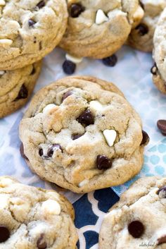 {Thick and Chewy} Triple Chocolate Chip Cookies | A Latte Food