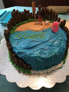 Moana cake Diy Birthday Cake, Moana Birthday Party, Moana Party, Luau Birthday, 6th Birthday Parties, Birthday Ideas, Party Treats, Party Cakes, Cupcakes