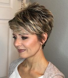 Today we have the most stylish 86 Cute Short Pixie Haircuts. We claim that you have never seen such elegant and eye-catching short hairstyles before. Pixie haircut, of course, offers a lot of options for the hair of the ladies'… Continue Reading → Popular Short Hairstyles, Short Pixie Haircuts, Hairstyles 2018, Pixie Haircut For Thick Hair, Short Haircuts Over 50, Short Hairstyles For Thick Hair, Popular Haircuts, Black Hairstyles, Trendy Hairstyles