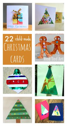 Lovely kids christmas card crafts