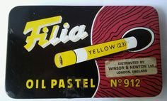 Vintage - No 912 Filia Oil Pastels in Original Tin. Distributed Winsor & Newton in Crafts, Art Supplies, Drawing & Lettering Supplies | eBay!