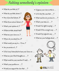 Useful Phrases for asking for help, asking someone's opinion and asking approval in English