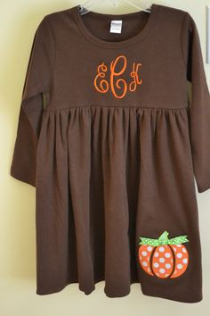pumpkin patch dress...would be cute to order for Shianne's birthday party