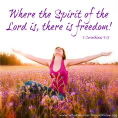 The Spirit of God which is also the Spirit of Freedom?