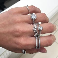 New, new, new! Come see us at @pandorapencentre to add our beautiful new rings to your collection! #pandora #pandorapencentre #rings #stacked #pandoraflow #pandorarings #dopandora #pandorajewelry #pandoralove #silver #new #bling #fashion #instafashion #instapic