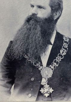 Did he get the medal for such a full beard?