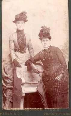 Victorian ladies, 1880s