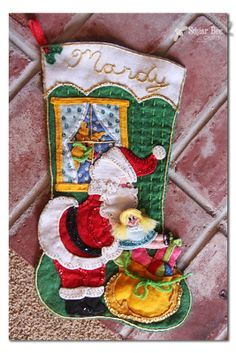 Intricate Felt Stockings - Sugar Bee Crafts