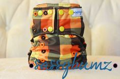Lumberjack One Size Cloth Diaper YOU PICK AIO or by sassybumz, $20.00 Fabric Combinations, Gift Card Giveaway, Cloth Diapers, Snug Fit, Happy Shopping, Plaid, Diapering, Pocket, Knitting