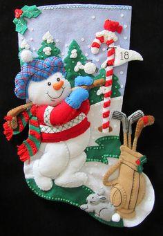 Handmade Bucilla Christmas stockings by GettingCraftyAtHome Felt Christmas, Christmas Stockings, Christmas Holidays, Merry Christmas, Christmas Decorations, Christmas Ornaments, Holiday Decor, Christmas Crafts, Felt Stocking