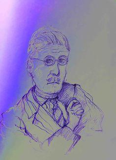 mr Marian Hergouth, James Joyce James Joyce, Portrait, Artwork, Fictional Characters, Artists, Canvas, Drawing S, Work Of Art, Men Portrait