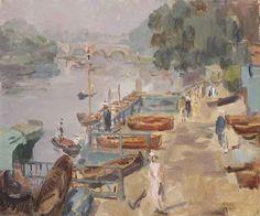 Isaac Israels (Amsterdam 1865-1934 The Hague) , The Thames near ...