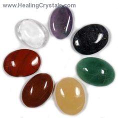 7 Chakra Cabochon Set  www.HealingCrystals.com