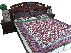 "Indian Home Furnishing ""MAST-MAST"" Printed Cotton Bed Cover With Pillow Covers Queen Sz Mogul Interior http://www.amazon.com/dp/B00RHG77NI/ref=cm_sw_r_pi_dp_1fqRub0WBKRZY"