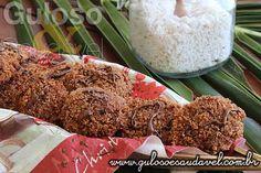 Biscoitos de Coco e Chocolate Diet » Receitas Saudáveis, Tortas e Bolos » Guloso e Saudável