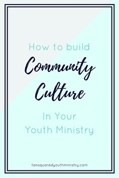 Want to know how YOU can create a fresh and thriving community culture in your Youth Ministry? We can show you. Tansquared Youth Ministry