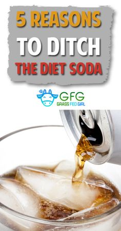 5 Reasons to Ditch the Diet Soda - I might sound harsh but diet soda is the one food item that I just can't understand why people continue to drink it. The evidence is stacked up against it!