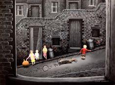 Children Games, Games For Kids, Leigh Lambert, Digital Art, Bob, England, Houses, Paintings, Drawings