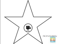hollywood walk of fame star clipart hollywood walk of fame rh pinterest com hollywood star clipart Hollywood Film Background