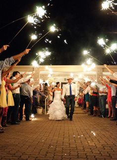 Wedding send off - sparklers! Photo by Kelly Cameron Photography