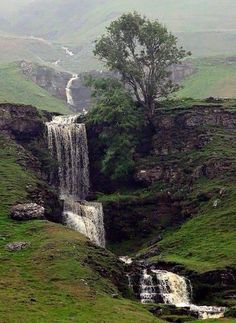 Cow Close Gill Waterfall near Skipton - North Yorkshire, England Beautiful Waterfalls, Beautiful Landscapes, Yorkshire England, North Yorkshire, Yorkshire Dales, Skipton Yorkshire, Cornwall England, England Uk, London England