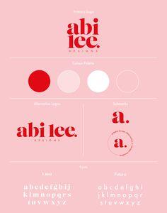Abi Lee Designs - Personal Branding on Behance Self Branding, Branding Kit, Brand Identity Design, Graphic Design Branding, Web Design, Brand Board, Business Logo, Graphic Design Inspiration, Instagram Feed