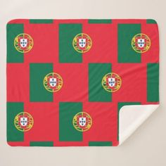 Patriotic Sherpa Blanket with Portugal flag - home gifts ideas decor special unique custom individual customized individualized