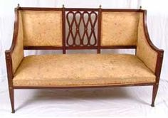 French Second Empire Parlor Two Seat Settee Sofa