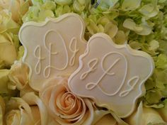 Monogram Wedding Cookie Favors