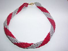 Ohio State necklace game day necklace scarlet and gray by MamaTats