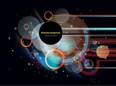 Circular background vector