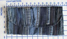 """PRODUCT: This listing is for a hip clutch featuring a variety of denim pieces. The clutch closes with a snap and has an interior pocket. Finished dimensions are approximately 5.5""""X11"""". This clutch is ready to ship.    PROCESS: For the cover, I connected several denim scraps from the remains of altered jeans into a """"striped"""" piece before stabilizing and attaching the lining. The lining includes a simple pocket for separating items inside.    FABRIC: The cover combines eight different pieces…"""